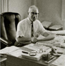 Joseph Lesser hard at work, circa 1950s.