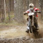 guy riding a dirt bike