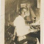 Joe at typewriter_Crop