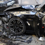 Air bags deployed from a nasty car accident